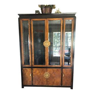 1980s Asian Century Furniture Chin-Hua Collection China Cabinet For Sale