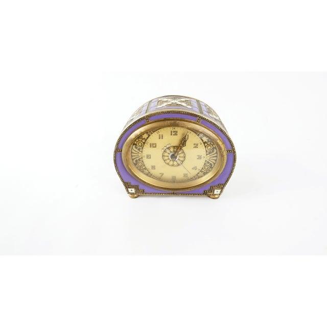 Antique Enamel Cloisonne Mantel or Desk Clock - Image 2 of 7