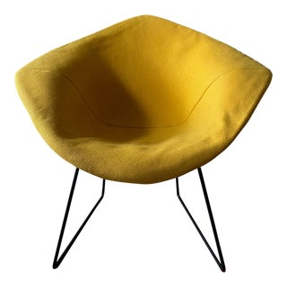 Bertoia Diamond Chair With Mustard Cover For Sale