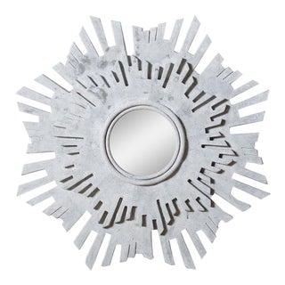 Contemporary Anders Concrete Sunburst Mirror For Sale