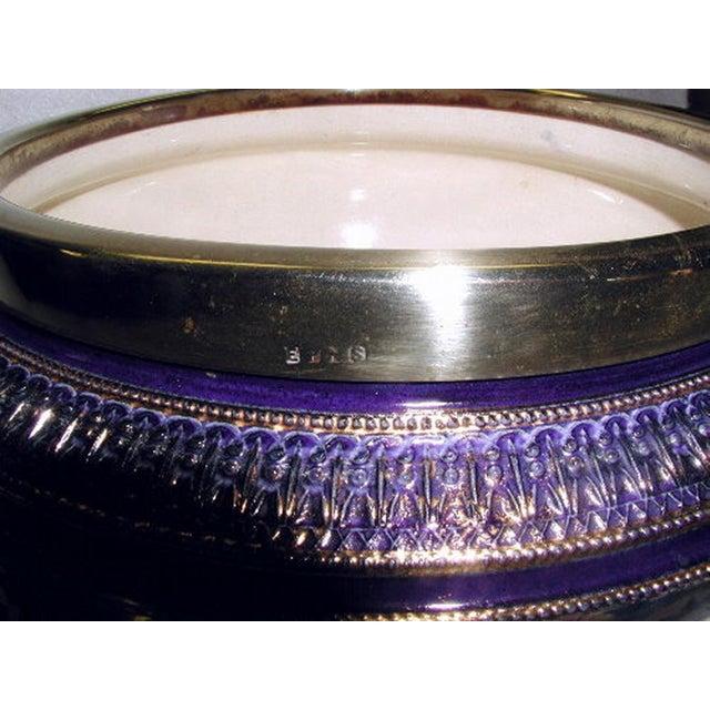 19th Century English Signed Porcelain Silver Salad Set - S/3 - Image 8 of 10