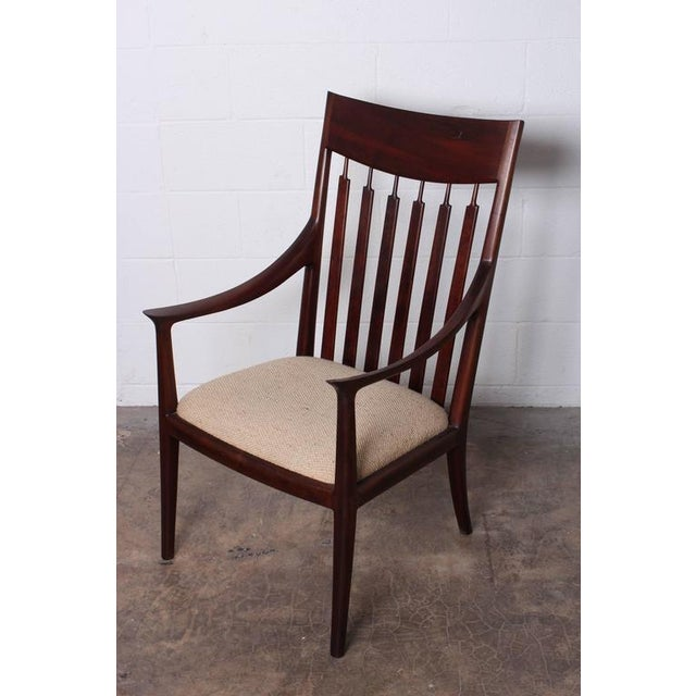 Walnut Craft Armchair by John Nyquist - Image 2 of 10