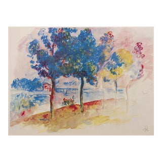 1959 Renoir, the Bridge at Argenteuil Lithograph