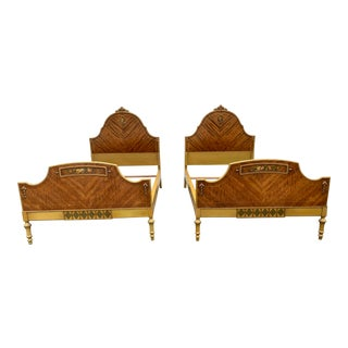 French Inspired Antique Twin Beds - a Pair For Sale
