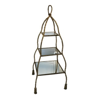 Hollywood Regency Style Three-Tier Serving Stand For Sale