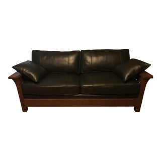 Stickley Mission Orchard St. Bow Arm Sofa