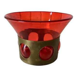 Mid-Century Felipe Derflingher Red Glass Vase
