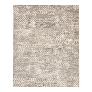 Pollack by Jaipur Living Reverb Hand-Knotted Trellis Ivory/ Black Area Rug - 9'x12' For Sale