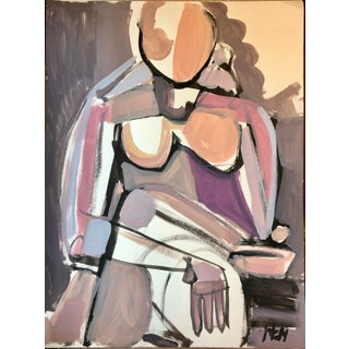 Hayley Mitchell Abstract Figure Painting For Sale