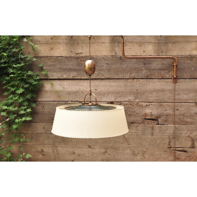"Mid-Century Modern Amba ""Lyss"" Swing-Arm Wall Lamp, Switzerland, 1940s For Sale - Image 3 of 8"