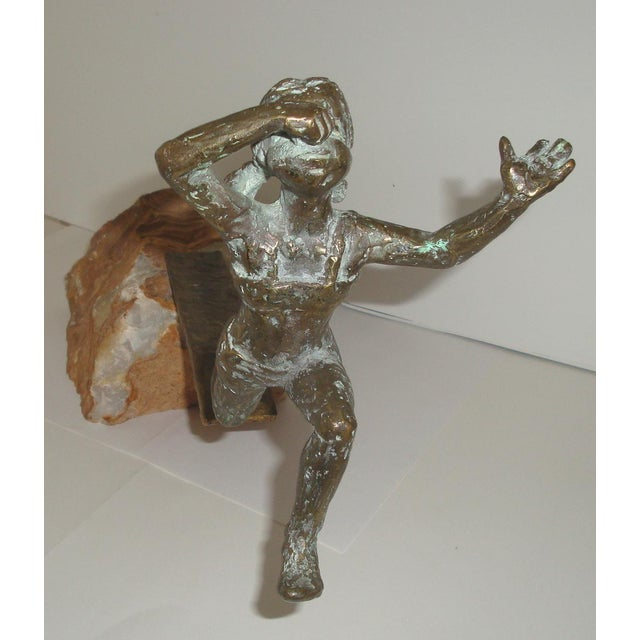 Mid 20th Century Bronze Swimmer Sculpture by C. Jere For Sale - Image 5 of 10