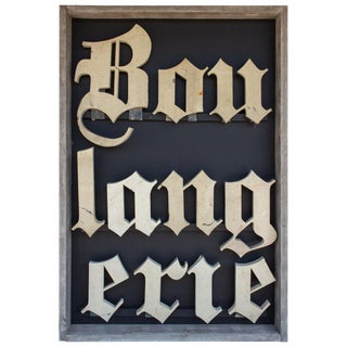 20th Century Antique French Boulangerie Sign For Sale
