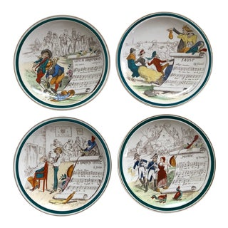 French Opera Plates, Set of 4