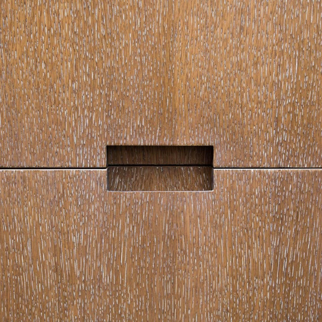 Early 21st Century Walnut and Cerused Oak Two-Drawer Cabinet For Sale - Image 5 of 7