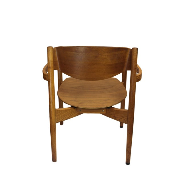 Vintage Jens Risom Stacking Chairs - Set of 6 - Image 4 of 6
