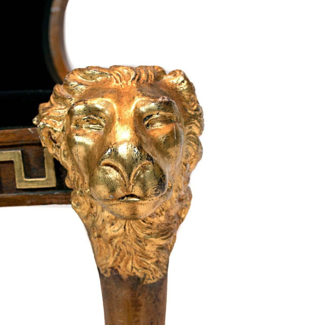 A North European Beech and Parcel-Gilt Klismos Chair with Greek Key Bordered Seat Frame For Sale In Chicago - Image 6 of 7