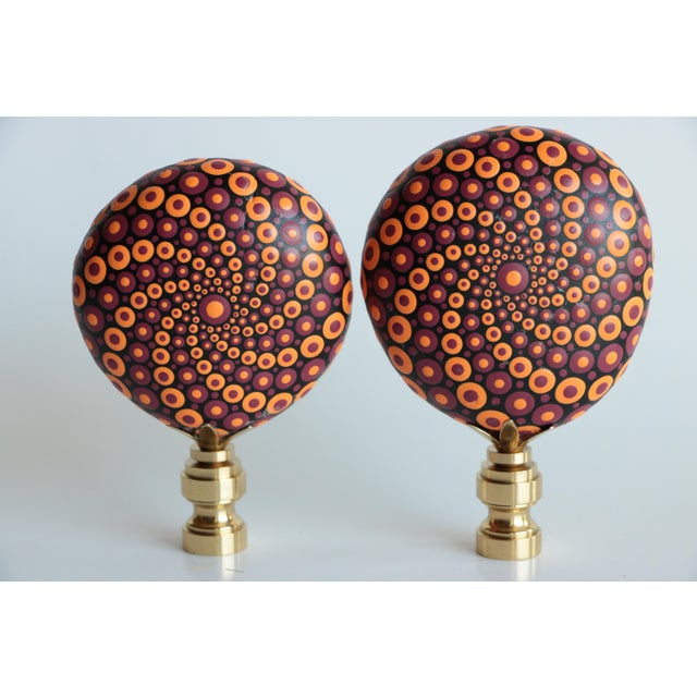 Mandala Stone Lamp Finials - a Pair For Sale In Madison - Image 6 of 6