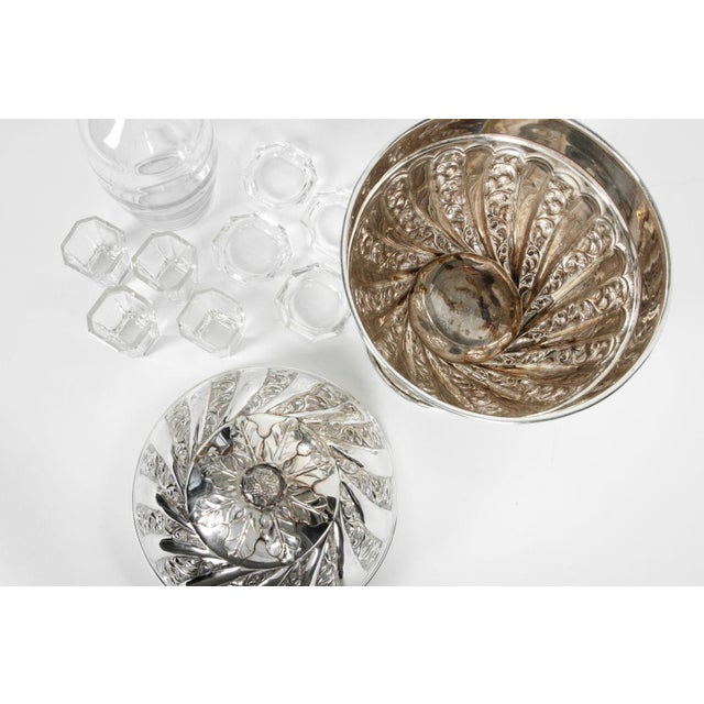 Sheffield Silver Plated Egg Shape Liquor Cave - 7 Pc. Set For Sale In New York - Image 6 of 13