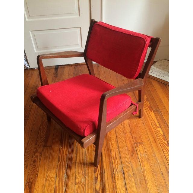 Mid-Century Walnut Lounge Chair - Image 3 of 10