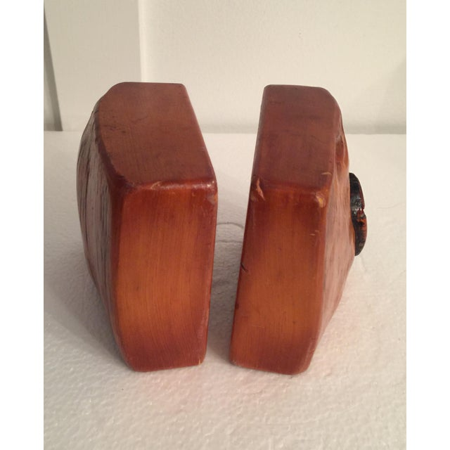 1980s Live Edge Organic Wood Bookends - a Pair For Sale - Image 5 of 13
