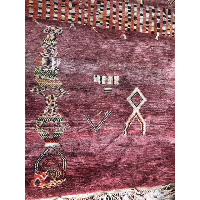 Pomegranate Tangier Moroccan Rug - 8′ × 10′ For Sale - Image 4 of 7