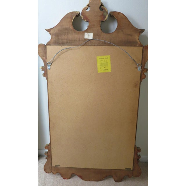 Gold Vintage Italian Gold Mirror by La Barge Burl Wood and Gold Gilt For Sale - Image 8 of 9