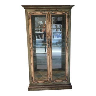 Lexington Painted Display Cabinet For Sale