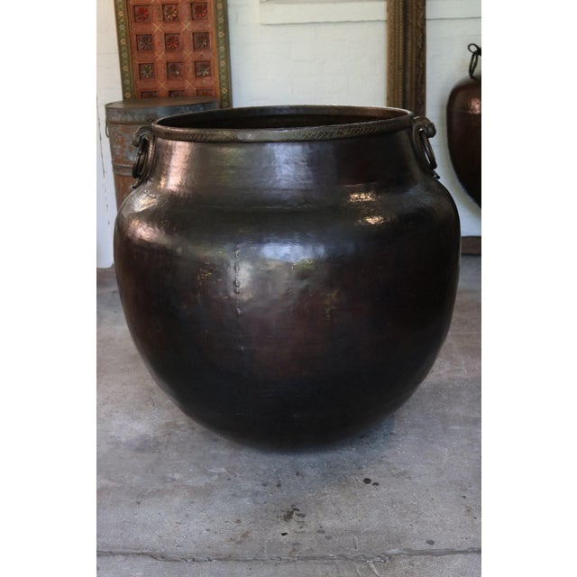 1900 - 1909 Brass Bird Handle Water Pot For Sale - Image 5 of 5