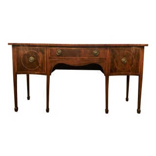 Antique English 19th Century Serpentine Sideboard. For Sale
