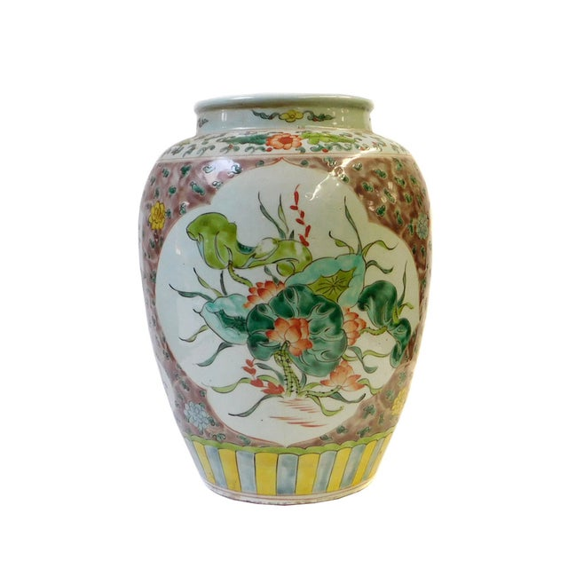 Chinese Flower Bird Scenery Porcelain Vase For Sale