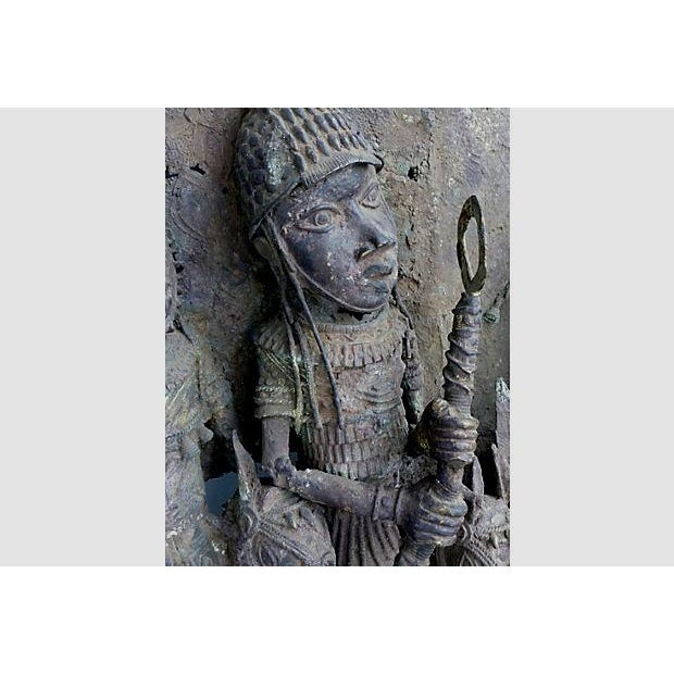 Large Antique African Bronze Relief - Image 6 of 10