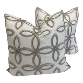 Travers Sandy Lane Pillows- a Pair For Sale