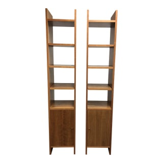 Room & Board Addison Cherry Bookshelves - A Pair