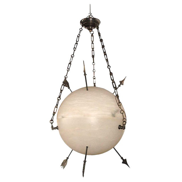 Contemporary alabaster armillary sphere chandelier chairish contemporary alabaster armillary sphere chandelier image 1 of 2 aloadofball