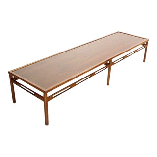 Mid-Century Modern Oversized Walnut Coffee Table For Sale