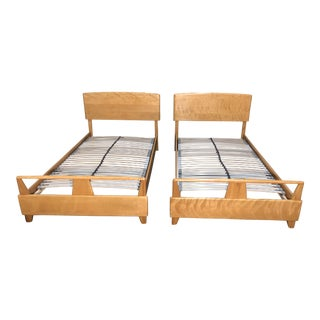 1960s Mid-Century Modern Heywood-Wakefield Maple Twin Beds - a Pair