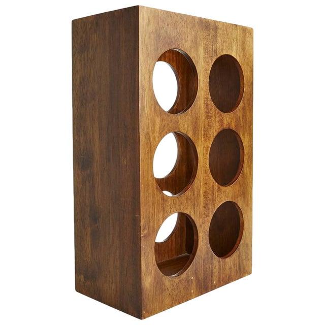 Sculptural Modern Walnut Magazine Rack - Image 1 of 6
