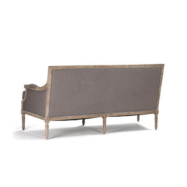 Audley Sofa in Gray For Sale - Image 4 of 5