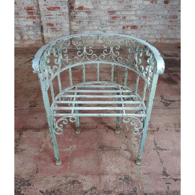 Art Nouveau Antique Cast Iron Patio & Garden Settee & 2 Chairs Set For Sale In Los Angeles - Image 6 of 10
