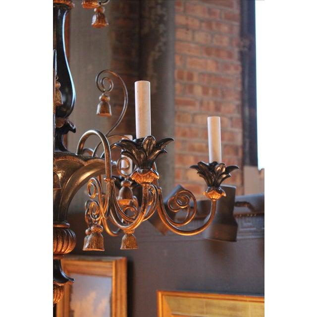 Antique Italian Gilt-Wood Chandelier - Image 4 of 5