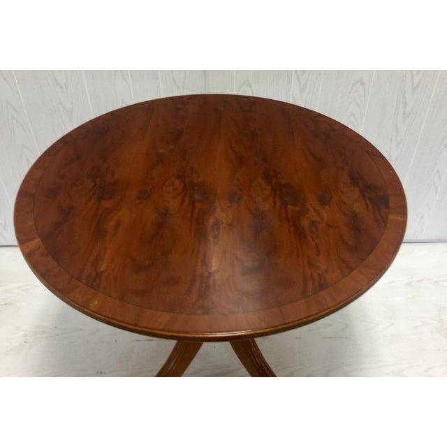 Yew Wood Top Tilt Top Pedestal Table - Image 5 of 5