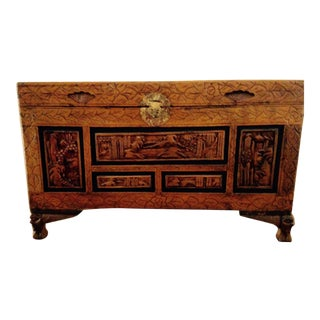 Vintage Carved Chinese Chest