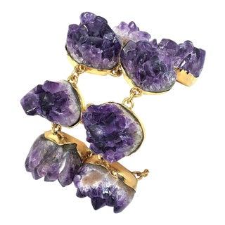 Roberto Cavalli Amethyst Link Bracelet For Sale