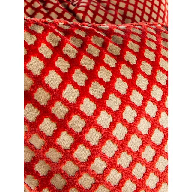"Feather 22"" X 22"" Velvet Scalamandre Pomfret Down Pillows For Sale - Image 7 of 8"
