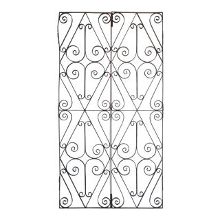 Antique French Wrought Iron Garden Doors - a Pair For Sale