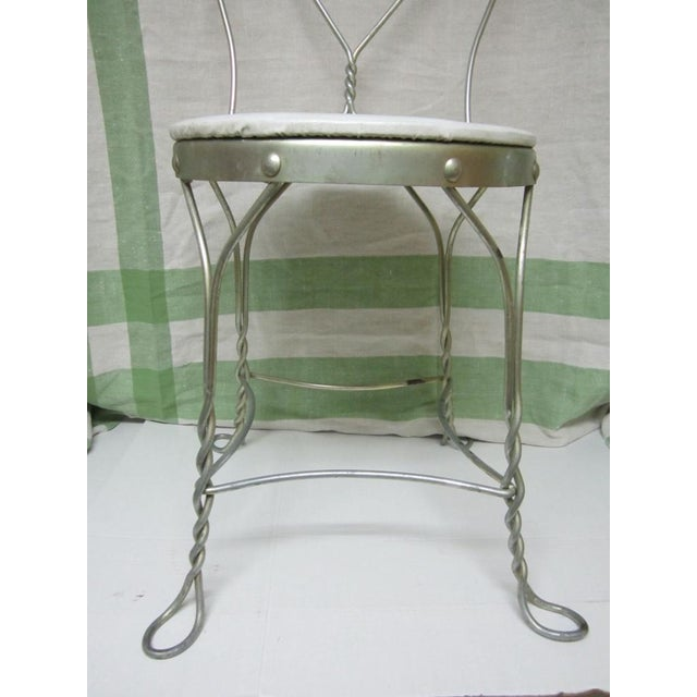 Vintage Metal Ice Cream Parlor Chair with Heart - Image 8 of 10