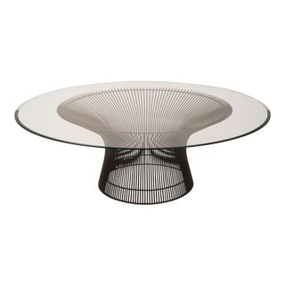 Early Warren Platner Bronze Coffee Table by Knoll, 1966 For Sale