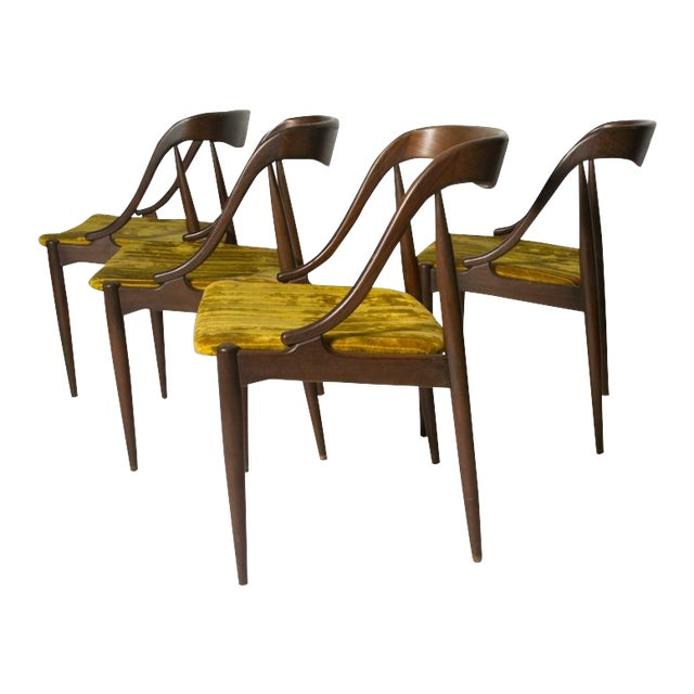 Johannes Andersen Teak Dining Chairs - Set of 4 For Sale