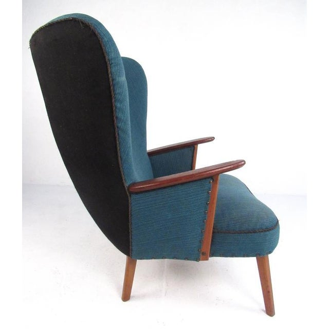 Wood Madsen & Schübel Pragh Wingback Lounge Chair For Sale - Image 7 of 9