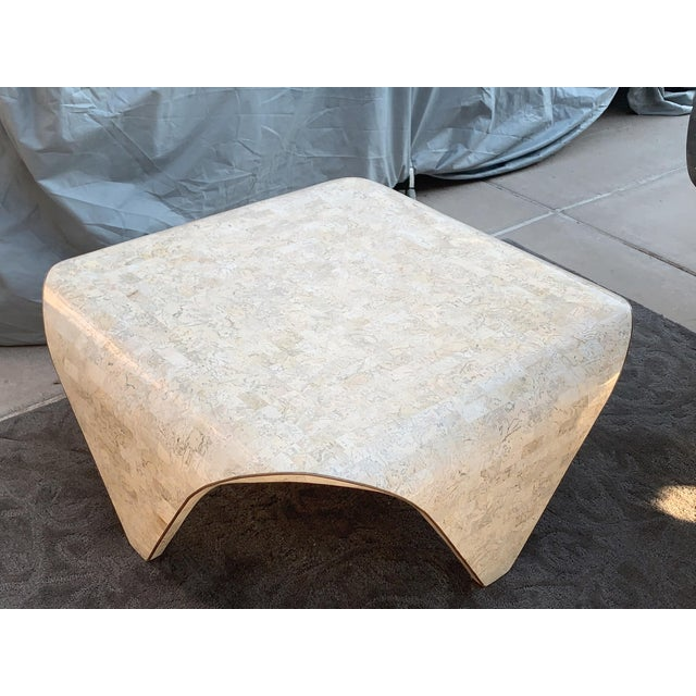 Rare sculptured coffee table in tessellated stone by Maitland-Smith, 1970's (signed on bottom) Styles include: Hollywood...